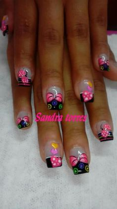 Uñas Funky Nail Art, Funky Nails, Flower Nails, Acrylic Nail Art, Toe Nails, Nails Inspiration, Beauty Nails, Pedicure, Hair And Nails
