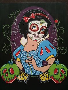 Disney Princess Sugar Skulls by ~KITTYOG on diviantart