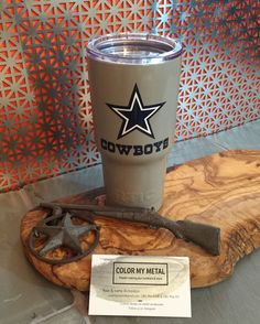 Get your own personalized Yeti tumbler, RTIC tumbler, yeti cup, RTIC cups. Cowboys yeti, Dallas Cowboys yeti