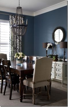 dark wall in formal dining room!