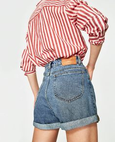 MOM FIT BERMUDA SHORTS-SHORTS-WOMAN-SALE | ZARA United States Mom Jeans Shorts, Jean Shorts, Jean Short Outfits, Workout Shorts, My Outfit, Going Out, Bermuda Shorts, Zara, Cute Outfits