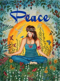 Peace love this picture.meditation and becoming a peaceful part of the universe. Paz Hippie, Mundo Hippie, Hippie Peace, Hippie Love, Hippie Chick, Hippie Style, Hippie Vibes, Peace Love Happiness, Peace And Love