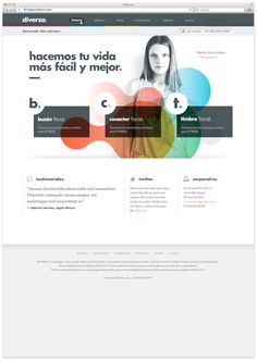 Diverza. by Face, via #Behance #Webdesign