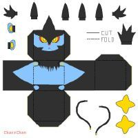 Luxray Papercraft by CharrChan