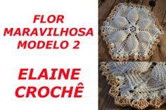 FLOR MARAVILHOSA EM CROCHÊ MODELO 2