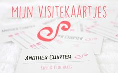 Another Chapter Visitekaartjes #blog #bloggen #blogger #life #fun #anotherchapter #visitekaartjes