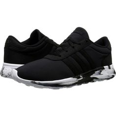 adidas Lite Racer (Marble Midsole) Women's Shoes ($50) ❤ liked on Polyvore featuring shoes, athletic shoes, black, elastic shoes, breathable shoes, grip shoes, kohl shoes and adidas footwear