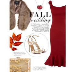 A fashion look from September 2016 by zeynepciim featuring Aquazzura, Charlotte Olympia, Anne Sisteron, Unreal Fur, Bela and fallwedding