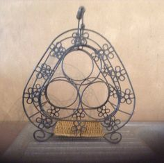 French Wire Enamelware Wine Rack Cast Iron by AlfiejayneVintage, €45.00