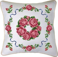 Cross stitch throw cushion