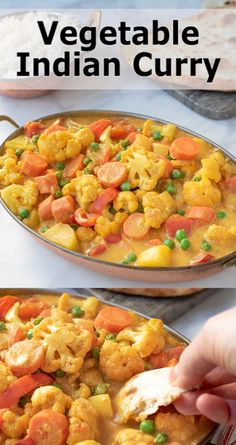 Quick, easy and just happens to be healthy. This Vegetable Indian Curry is full of veggies and full of flavor. Curry Recipes, Raw Food Recipes, Indian Food Recipes, Asian Recipes, Vegetarian Recipes, Cooking Recipes, Healthy Recipes, Indian Vegetable Recipes, Chicken Vegetable Curry