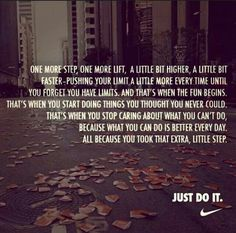 take that extra step #nike #liveit