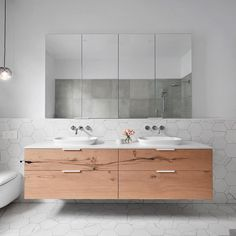 "460 Likes, 4 Comments - Caesarstone Australia (@caesarstoneau) on Instagram: ""This bathroom is epitome of refined, industrial elegance @smarterbathroomsplus mix neutral…"""