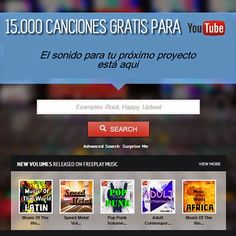 Más de 15 mil canciones gratis para usar en Youtube#youtube #musica