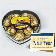 Card With Chocolate For New Year