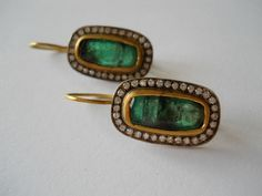 Pamela Harari's Emerald & Diamond Earrings