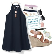 """""""it's always summer somewhere~"""" by the-preps ❤ liked on Polyvore featuring MANGO, MICHAEL Michael Kors, Kate Spade, Yves Saint Laurent, Cara, Kendra Scott, Chanel, Vineyard Vines and CÉLINE"""