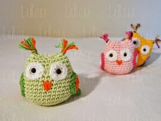 Amigurumi Patrones Gratis De Buho : Ravelry tiny amigurumi owls pattern by kristi tullus