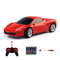 [USD3.78] [EUR3.40] [GBP2.68] Machine Deformation Remote Control Car Electric Toy Car Model (Colour: Red)