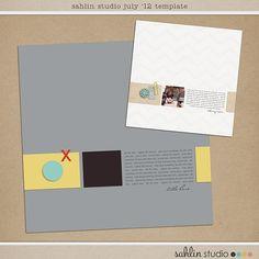 July's FREE Digital Scrapbooking Template by Sahlin Studio