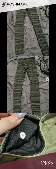 Green striped lululemon leggings Size 4 green striped lululemon leggings. Full length. Super slight pulling! Pants & Jumpsuits Leggings Ivy Park Leggings, Flex Leggings, Mesh Leggings, Teeki Yoga, Maternity Leggings, Lululemon Shorts, Under Pants, Kate Spade Wallet