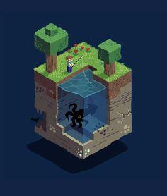 Minecraft   Block World   fishing