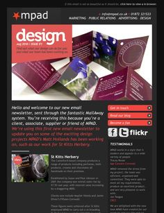 Email newsletter templates 40 hand picked premium designs layout newsletter layout intro directors letter on left under an image smaller than spiritdancerdesigns Image collections