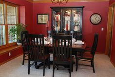 Transitional Black and Cherry Dining | Email jkcreativewood@gmail.com or call 319-656-3990 for a shipping quote.