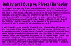 Behavioral Cusp vs Pivotal Behavior