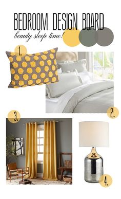 a684e89fc6688 Guest Bedroom  Yellow  amp  Grey Bedroom Color Scheme. Soothing  amp  Happy!