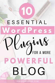 Best Free WordPress Plugins for New Bloggers- Plugins basically improve the overall functionality of your WordPress blog. Though there are over 50,000 plugins available, there are very few that are essential to your blog's long-term success. Though premium plugins may offer a bit more features, I think free plugins can also do the trick, especially if you're a new blogger. Click to discover the 10 absolutely best + FREE plugins EVERY blogger must-have #wordpressplugins #bloggingtips… Learn Wordpress, Wordpress Plugins, Wordpress Theme, Wordpress Support, Wordpress Admin, Wordpress Template, Ecommerce, Start Online Business