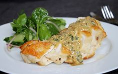 Roasted chicken breast recipe with creamy herb sauce - Chelsea Winter Raw Food Recipes, Wine Recipes, Vegetarian Recipes, Chicken Recipes, Cooking Recipes, Healthy Recipes, Turkey Recipes, Roasted Chicken Breast, Roast Chicken
