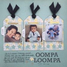 oompa loompa scrapbook layout