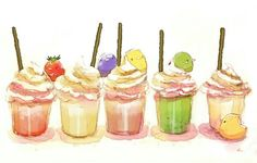 Pixiv Id 1096811 Image - Zerochan Anime Image Board Cute Food Drawings, Cute Animal Drawings Kawaii, Kawaii Drawings, Kawaii Chibi, Kawaii Art, Desserts Drawing, Pelo Anime, Chibi Food, Kawaii Dessert
