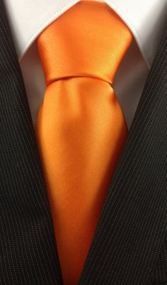 Bright Orange Wedding Neckties by TheNecktieShop on Etsy, $12.99