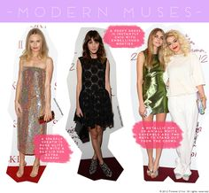 Modern Muse Style: Kate Bosworth, Alexa Chung, Someone with Rita Ora