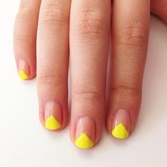 A neon geometric manicure and more easy nail art designs you can do at home!