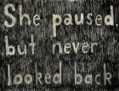 She paused...