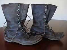 Vintage Depression Era 30's Men's Leather Sport Hunting Birding Boots Size 7.5 W | eBay