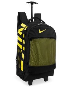 Nike Rolling Backpack Black/Medium Pink 08 - Travel Luggage at ...