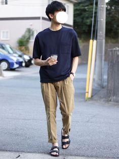 ponさんのコーディネート Japan Fashion, Mens Fashion, Fashion Outfits, Japanese Outfits, Spring Looks, Mix Match, Streetwear Fashion, Street Wear, Summer Outfits