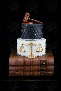 "Events by Gia thinks this is a perfect Birthday or Graduation Cake for a Lawyer, but it was used for a Wedding as ""Labors of Love."" #atlanta #eventstyling #eventsbygia #eventcompany #sherwoodeventhall #atlantavenues #partyideas #weddingcake #graduationcake #birthdaycake #laywergraduationcake"