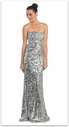 Classy Sequin Prom Dress #sequinpromdress #sequinedgown #glamourforless