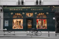 "Shop of the day: Debauve & Gallais, Paris  One of the oldest chocolate shops in Paris, Debauve & Gallais was founded after the French Revolution in 1800 by Sulpice Debauve, former family chemist of the crown.  One of their specialties, still made today, is the ""Pistoles De Marie Antoinette"", thin chocolate ""coins"" originally created for Queen Marie Antoinette."