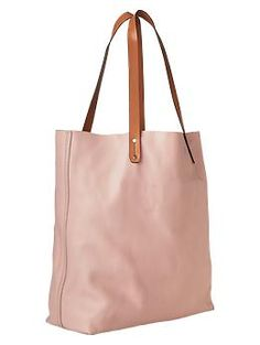 Leather tote in pink #mjwishlist