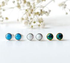 Excited to share this item from my #etsy shop: Dainty 4mm Opal bezel ball earrings Sterling silver, turquoise ball dot stud earrings, Tragus, cartilage, helix, tiny bezel opal ball studs Bar Stud Earrings, Dainty Earrings, Dainty Jewelry, Sterling Silver Earrings Studs, Bead Earrings, Jewelry Polishing Cloth, Silver Bars, Tragus, Opal