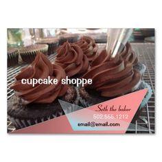 chocolate cupcakes business card