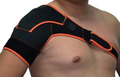 Yosoo Adjustable Hot Cold Sports Therapy Back Shoulder Brace Shoulder Pad Wrap Support Belt Single Sports Pretector Shoulder Brace, Back Shoulder, Shoulder Pads, Shoulder Pain Relief, Back Pain Relief, Severe Back Pain, Sports Therapy, Back Pain Remedies, Frozen Shoulder