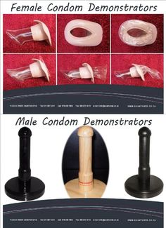 QUANTUMED MANFACTUERS MALE AND FEMALE CONDOM DEMONSTRATORS Female