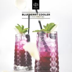 Blueberry Cooler, with Rose 1883 Syrup. #Cocktail #Bartender #NoAlcohol